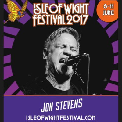 JON STEVENS HEADING TO ICONIC ISLE OF WIGHT FESTIVAL 2017