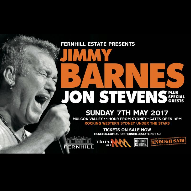 Fernhill Presents Concert 2017 Jimmy Barnes and Jon Stevens